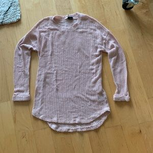 Urban Outfitters Sparkle & Fade light pink sweater